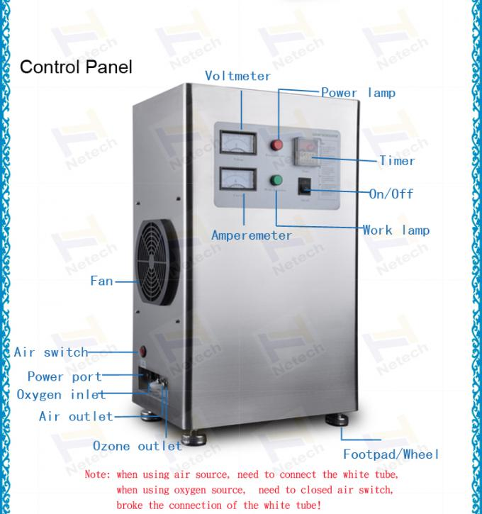 Air cooling clean air industrial ozone generator water treatment 220V ozone equipment